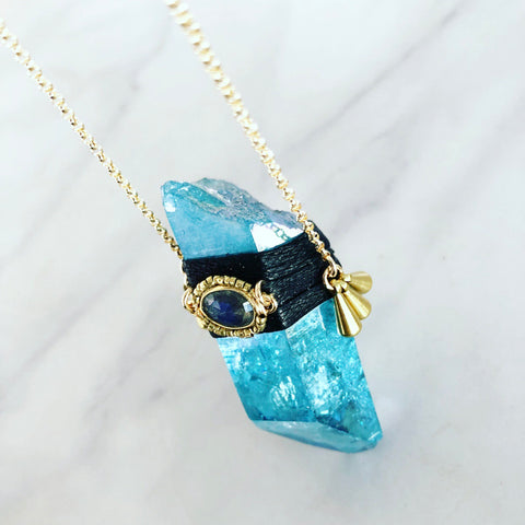 Aqua Aura Clarity Necklace