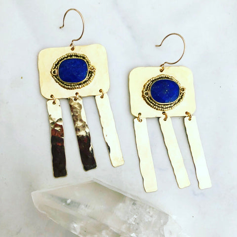 Lapis Heather Earrings