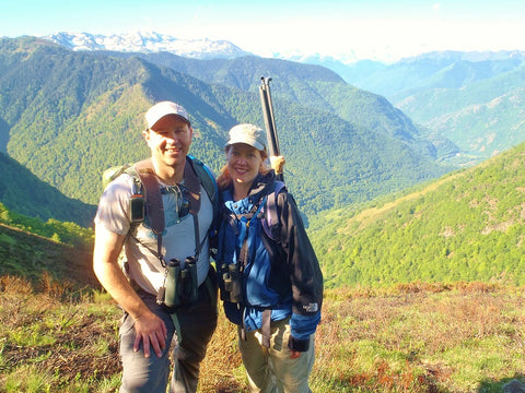 Owners of A Little Pillow Company on a climate change Earthwatch Expedition in France 2015