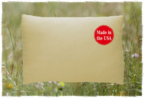 Sown2Sewn Organic Adjustable Loft Pillow from A Little Pillow Company with USDA Certified 100% Organic Texas Grown Cotton Cover  and Certified Eco-Friendly Flex-Fill made from 100% recycled single-use plastic bottles. Machine-Washable. Made in the USA