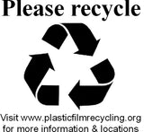 Plastic Film Recycling Sticker