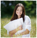 100% Cotton Percale Queen Pillowcase 20x30 Flap Style by A Little Pillow Company. Made in the USA