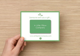 Take the stress out of shopping with a physical gift card from A Little Pillow Company.
