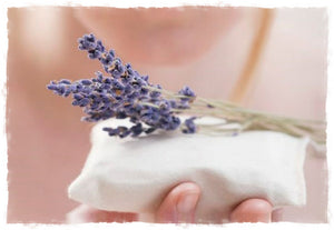 Lavender sachets made from 100% organic cotton and premium lavender flowers by A Little Pillow Company