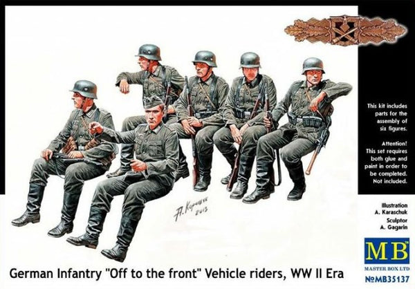 "Master Box 1/35 German Infantry ""Off to the front"" Vehicle riders, WW II Era 