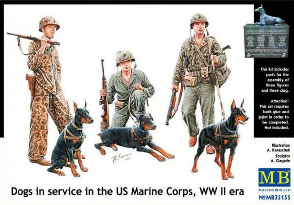 Master Box 1/35 Dogs in service in the US Marine Corps, WW II era | MB35155