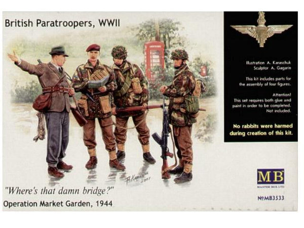 Master Box 1/35 British Paratroopers, WWII Where's that damn bridge? Operation Market Garden, 1944 | MB3533