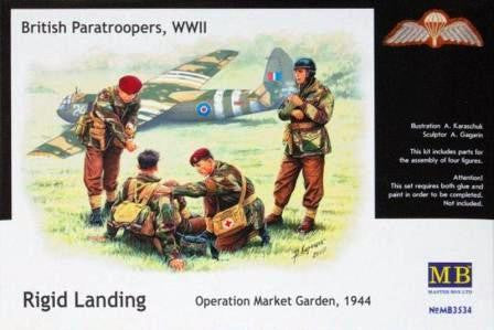 Master Box 1/35 British Paratroopers, WWII Rigid Landing Operation Market Garden, 1944 | MB3534