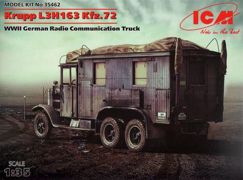ICM 1/35 Krupp L3H163 Kfz.72 WWII German Radio Communication Truck | 35462