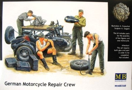 Master Box 1/35 German Motorcycle Repair Crew | MB3560