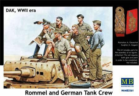 Master Box 1/35 DAK, WWII era Rommel and German Tank Crew | MB3561