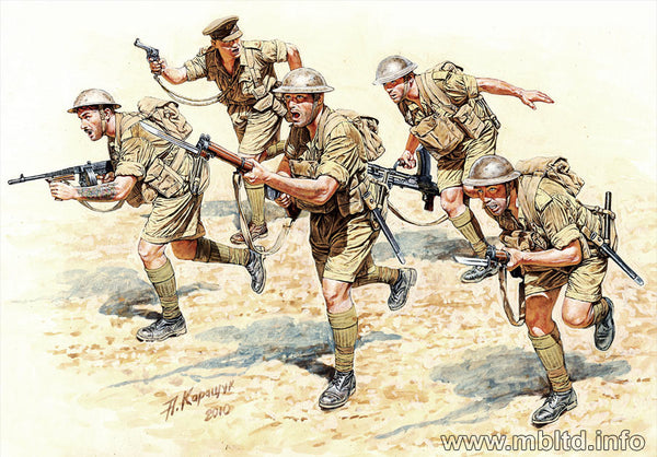 Master Box 1/35 WWII British Infantry in Action | MB3580