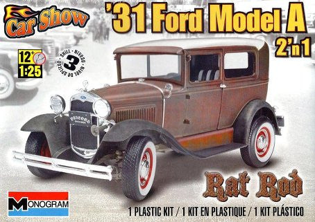 Monogram 1/25 1931 Ford Model A Rat Rod 2 'n1 Kit | MONO85-4259
