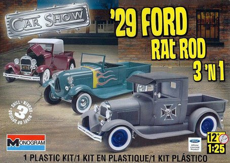 Monogram 1/25 1929 Ford Rat Rod 3 'n 1 | MONO85-4932