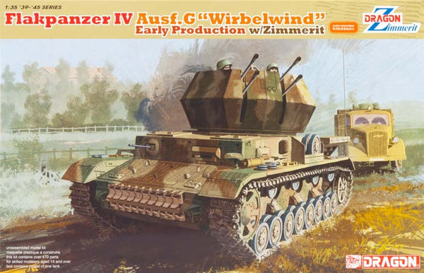 "Dragon 1/35 Flakpanzer IV Ausf.G ""Wirbelwind"" Early Production w/Zimmerit 