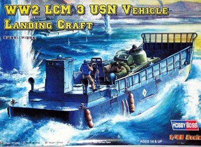 Hobbyboss 1/48 WW2 LCM 3 USN Vehicle Landing Craft | 84817