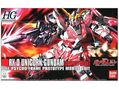 HGUC Gundam Unicorn RX-0 Unicorn Gundam (Destroy Mode) Full Psycho-Frame Prototype Mobile Suit Bandai | No. 0161011 | 1:144