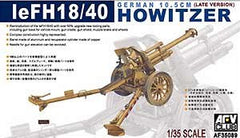 AFV Club 1/35 eFH18/40 German 10.5cm Late Version Howitzer Gun | AF35089