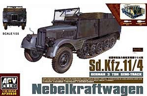 AFV Club 1/35 SdKfz 11/4 German 3-Ton Semi-Track Nebelkraftwagen Vehicle  | AF35S36