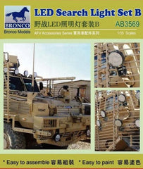 Bronco 1/35 LED Search Light Set B (2 Types of 28pcs) | 3569