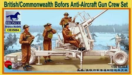 Bronco 1/35 British/Commonwealth Bofors Anti-Aircraft Gun Crew | CB35084