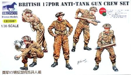 Bronco 1/35 British 17pdr Anti-Tank Gun Crew | CB35087