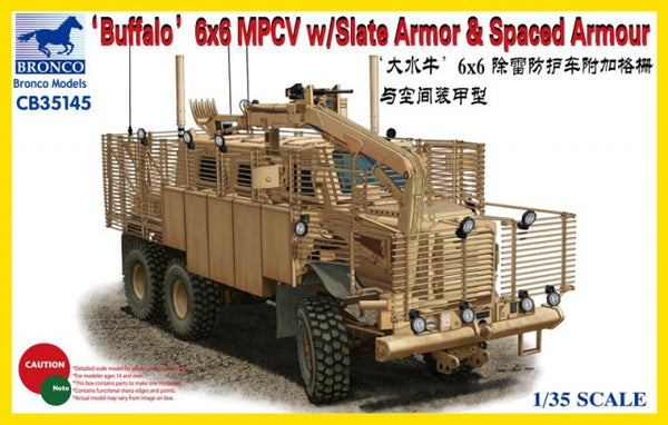 Bronco 1/35 'Buffalo' 6x6 MPCV w/Slate Armour & Spaced Armour | CB35145