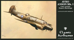 Classic Airframes 1/48 Avro Anson Mk. I Late Version Export | AF4119