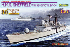 Cyber Hobby 1/700 H.M.S. Sheffield Type 42 Destroyer Batch 1 (Falklands War 30)  | CH7133