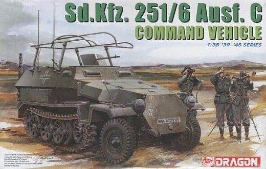 Dragon 1/35 Sd. Kfz 251/6 Ausf. C Command Vehicle | 6206