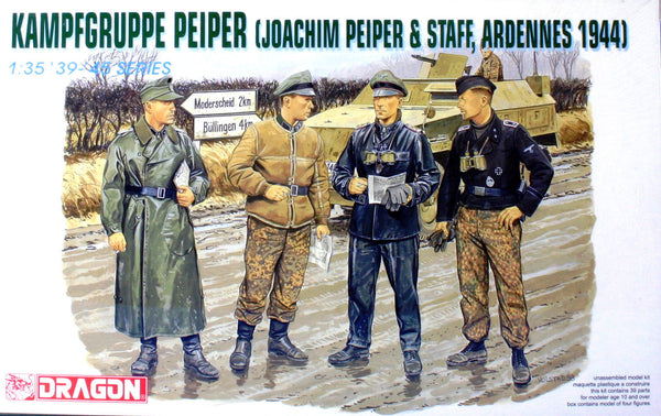 Dragon 1/35 WW II German Kampfgruppe Peiper (Peiper & Staff 1944) | 6088