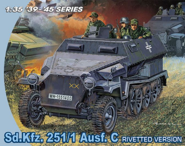 Dragon 1/35 Sd.Kfz. 251/1 Ausf. C Rivetted Version | 6246