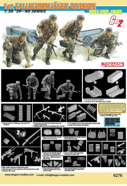 Dragon 1/35 1st Fallschirmjager Division (Holland 1940) | 6276