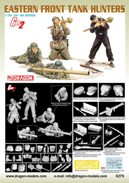 Dragon 1/35 Eastern Front Tank Hunters | 6279