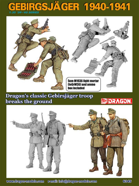 Dragon 1/35 Gebirgsjager 1940-1941 | 6345