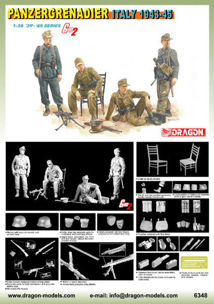 Dragon 1/35 Panzergrenadier (Italy 1943-45) | 6348