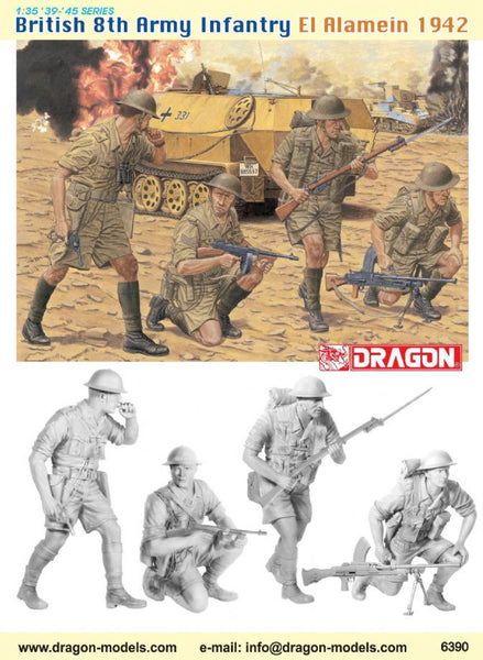 Dragon 1/35 British 8th Army Infantry (El Alamein 1942) | 6390