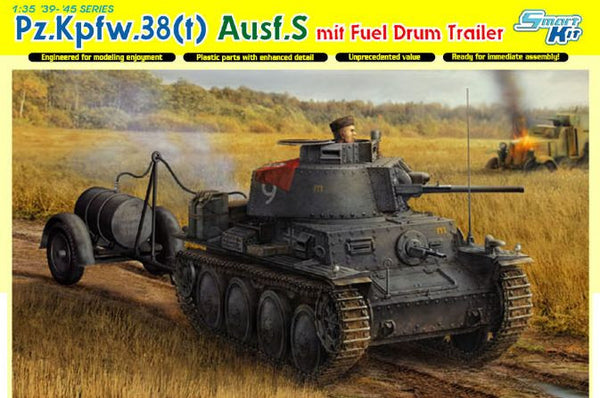 Dragon 1/35 Pz.Kpfw.38(t) Ausf.S mit Fuel Drum Trailer | 6435