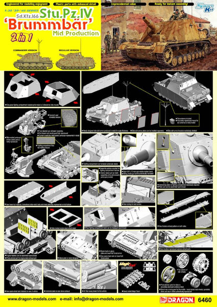 "Dragon 1/35 Sd.Kfz.166 Stu.Pz.IV ""Brummbar"" Mid Production 