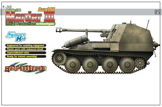 Dragon 1/35 Sd.Kfz.138 Marder III Ausf.M Initial Production w Stadtgas | 6468