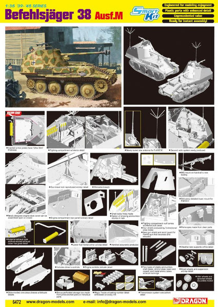 Dragon 1/35 Befehlsjager 38 Ausf.M | 6472