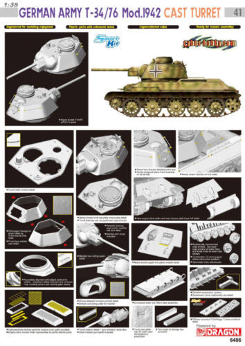 Dragon 1/35 German Army T-34/76 Cast Turret | 6486