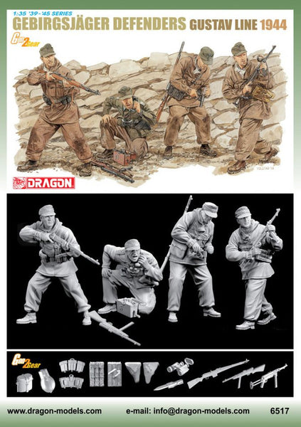 Dragon 1/35 Gebirgsjager Defense (Gustav Line 1944) | 6517