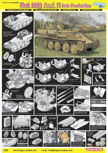 Dragon 1/35 Flak 38(t) Ausf.M Late Production | 6590