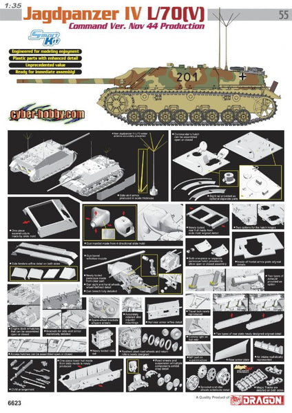 Dragon 1/35 Jagdpanzer IV L/70 (V) Command Ver. Nov 44 Production | 6623
