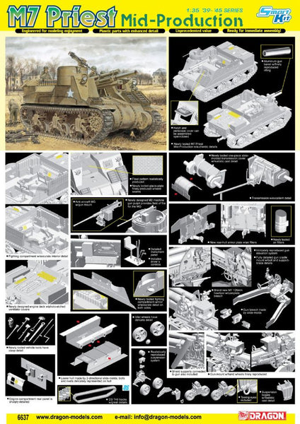 Dragon 1/35 M7 Priest Mid Production | 6637