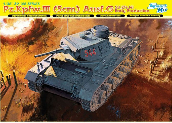 Dragon 1/35 Pz.Kpfw.III (5cm) Ausf.G, Sd.Kfz.141, Early Production | 6639