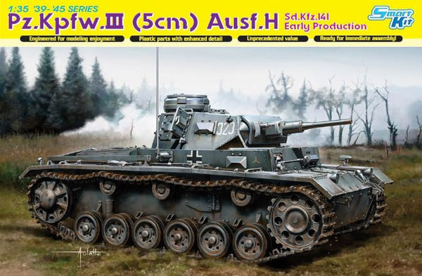 Dragon 1/35 Pz.Kpfw.III (5cm) Ausf.H Sd.Kfz.141 Early Production | 6641