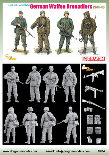 Dragon 1/35 German Waffen Grenadiers 1944-45 (4 Figures Set) | 6704