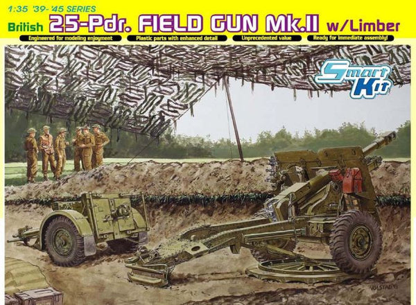 Dragon 1/35 British 25-Pdr. Field Gun Mk.II w/Limber | 6774